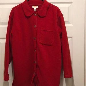 Women's Talbots Red fleece coat size M